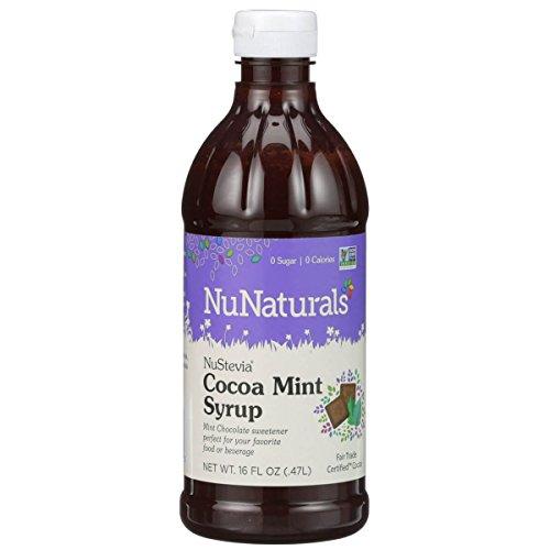 NuNaturals - NuStevia - Cocoa Mint Syrup - Natural Sweetener - 16 oz