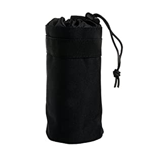 Wrisky Outdoor Tactical Military System Water Bottle Bag Kettle Pouch Holder Bag (Black)