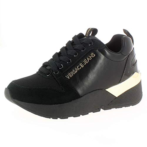 N 41 Sneakers Jeans Basse Versace Donna Black q86nzH