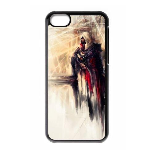 Ezio Auditore Da Firenze 007 coque iPhone 5C Housse téléphone Noir de couverture de cas coque EOKXLLNCD15768