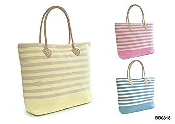 Bright Striped Beach Bag