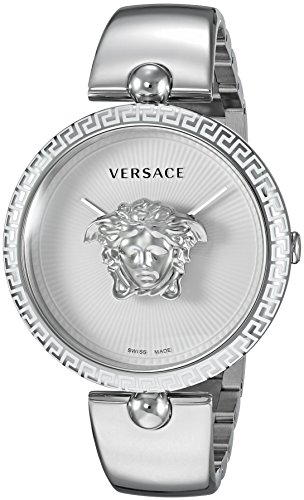 Versace Women's 'Palazzo Empire' Swiss Quartz Stainless Steel Casual Watch, Color Silver-Toned (Model: VCO090017)
