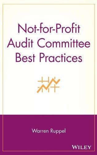 Not-for-Profit Audit Committee Best Practices by Warren Ruppel (2005-11-25)
