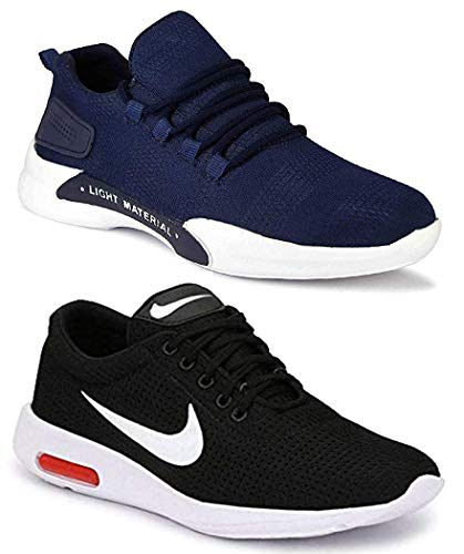 WORLD WEAR FOOTWEAR Men Multicolour Latest Collection Sports Running Shoes – Pack of 2 (Combo-(2)-9069-1200)