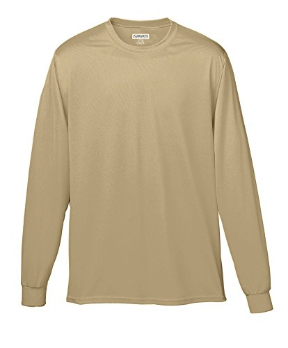 Augusta Sportswear Wicking Long Sleeve T-Shirt, Small, Vegas - Vegas Mens Fashion