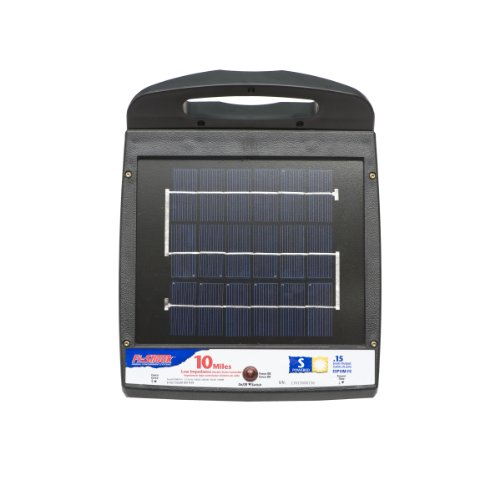 Fi-Shock ESP10M-FS 10-Mile Solar Powered Low Impedance Electric Fence Energizer