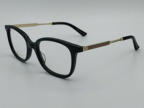 gucci Eyeglasses GG 0202 O- 001 BLACK / - And Gold Black Gucci