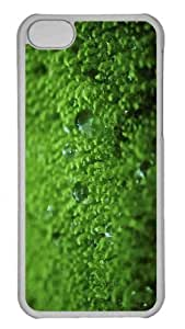 Customized iphone 5C PC Transparent Case - Wet Moss Personalized Cover