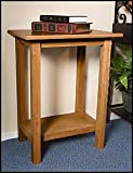 CREDENCE TABLE-PECAN FINISH
