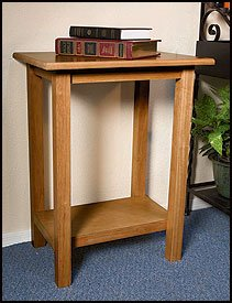 CREDENCE TABLE-PECAN FINISH by Christian Brands (Image #1)