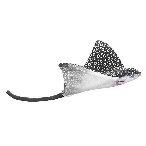 (Wildlife Artists, Inc - Stuffed Plush Animal - SPOTTED EAGLE RAY (Black & White) (13 inch))
