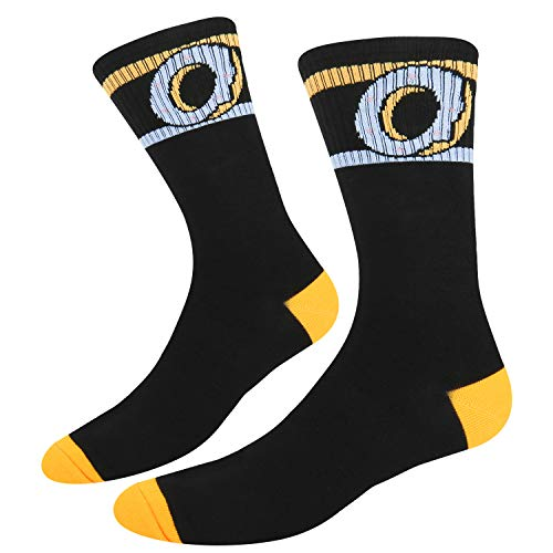 Zmart Men's Athletic Sport Donuts Crew Socks Novelty