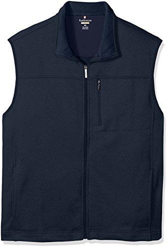 Van Heusen Men's Big and Tall Traveler Solid Full Zip Vest, Blue/Black Iris Heather, 2X-Large