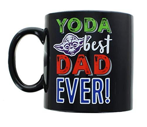 Star Wars Fathers Day Coffee Mug -Yoda Best Dad Ever Ceramic Mug - Large -20 oz