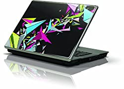 """Skinit Protective Skin (Fits Latest Generic 10"""" Laptopnetbooknotebook); Black Geometric Abstraction"""
