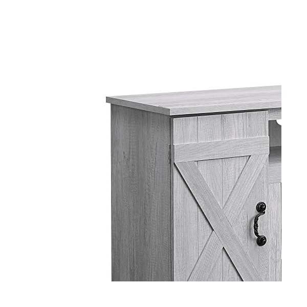 "BELLEZE Rustic Wood TV Stand for TV's Up to 50"" Living Room Storage, Sargent Oak"