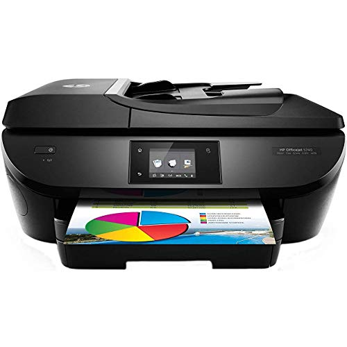 HP OfficeJet 5740 Wireless All-in-One Photo Printer with Mobile Printing, Instant Ink ready (Renewed)
