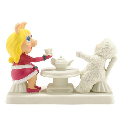 Department 56 Snowbabies Guest Collection Miss Piggy Comes to Tea Figurine, 3.375 inch