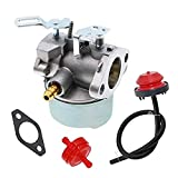 HUZTL 640052 640054 Carburetor for Tecumseh HMSK80 HMSK90 8hp 9hp 10hp LH318SA LH358SA for Snow Blower Generator Chipper Shredder 640054 640349 Carb