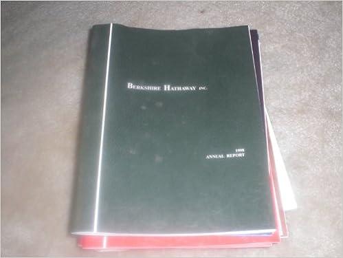 Read Berkshire Hathaway Annual Report 1998 PDF, azw (Kindle)