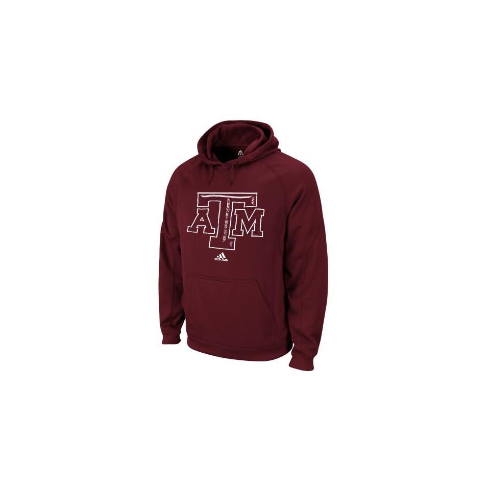NCAA adidas Texas A&M Aggies Pinstitch Fleece Hoodie Sweatshirt   Maroon (Small)