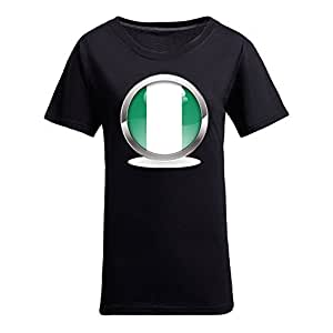 Custom Womens Cotton Short Sleeve Round Neck T-shirt, Printed with World Cup Images