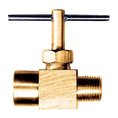 Precision Brass Liquid Gas Needle Valve 1/4 Male NPT x 1/4 Female NPT FIP FPT NPT by FASPARTS