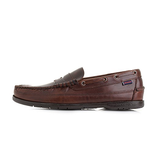 Brushed Total taglia Brown Scarpa Leather Sebago Sloop twFqXAZU