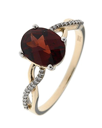 Bague Or 375 Grenat ref 42554