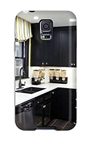 Special ZippyDoritEduard Skin Case Cover For Galaxy S5, Popular Black Cabinetry In Modern Kitchen Phone Case