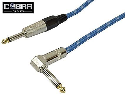 Cable para guitarra eléctrica profesional con ángulo recto Jack