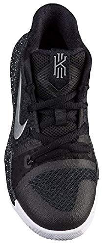 Nike Boy's Pre-School Kyrie 3 Sneakers Black Silver Size 12C (US)