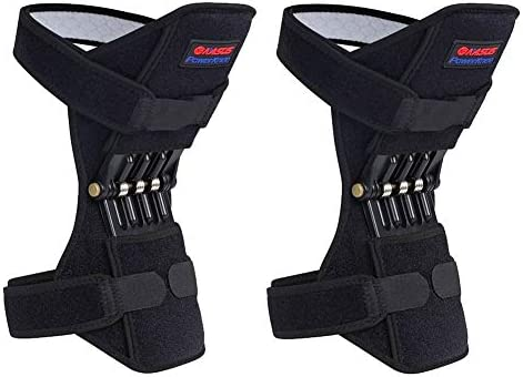 YYZC 2 stücke Atmungsaktive rutschfeste Knie Booster Joint Knie Unterstützung Klammer Kniepolster Sport Klettern Training Squat Patella Protector Powerleg
