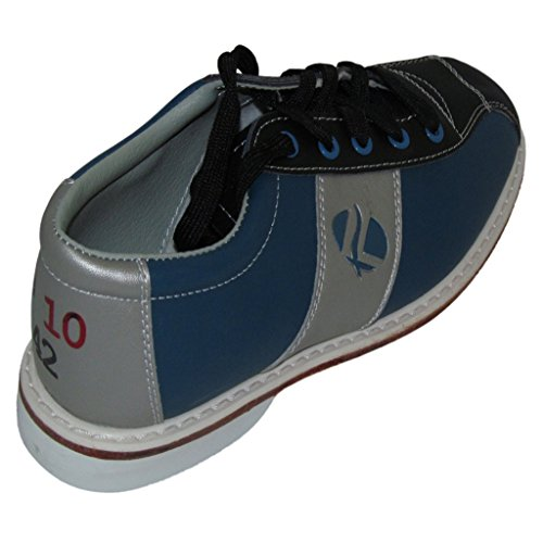 - Linds Womens Monarch Rental Bowling Shoes- Laces (8 1/2 M US, Blue/Silver)