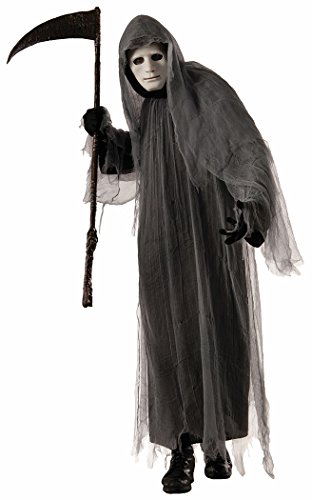 Robe With Grey Hood Costumes (Forum Men's Grey Ghoul Costume, Multi/Color, One Size)