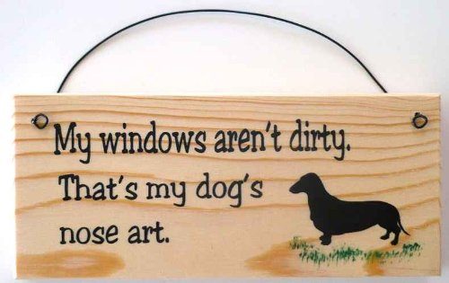 Dashshund Sign My Windows arent dirty product image
