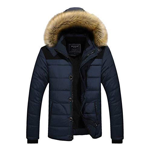 Huixin Outwear Leather Clothes Biker Men Lapel Autumn Blue Long Apparel Jacket Fashion Sleeve Vintage Winter Motorcycle Men Fit Jacket Coat Faux Slim Jacket Leather AA1drpWqw