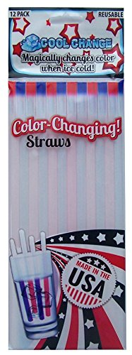 Patriotic Straw - Color Changing Straws - Fun Military Gift or Patriotic Party