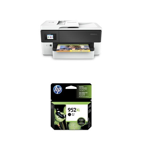 HP OfficeJet Pro All in One Wide Format Printer with Wireless Printing with HP Black High Yield Original Ink Cartridge for HP OfficeJet Pro