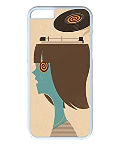 iphone 6plus case,iphone 6plus PC white fashion colorful custome design case,Illustrators Series Protective PC Case,Scratch Resistant,Perfect Fit with Aesthetic Print Back Cover for 5.5 inches iPhone 6plus,must have music by mcsharks