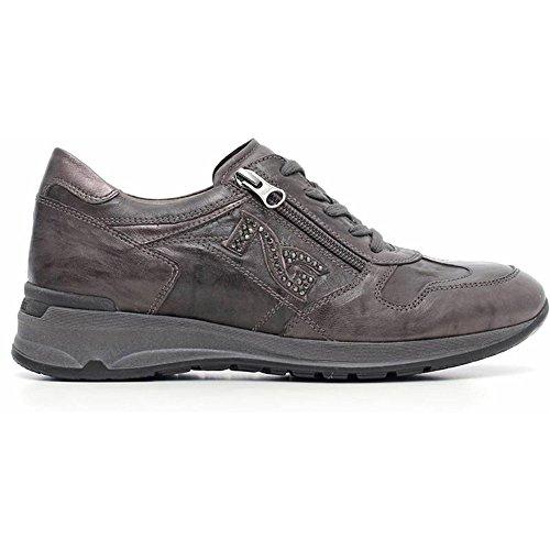Nero Giardini Sneaker mujer de ante gris a616055d-109–Negro Jardines