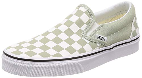 Vans Desert true Enfiler Sage Femme checkerboard Baskets Slip Classic on White 7qwUpB7