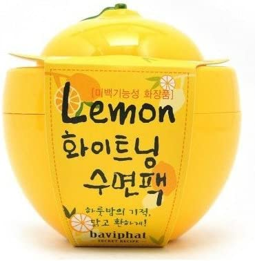 KOREAN COSMETICS, Baviphat_ Lemon whitening sleeping pack (100g, nutrition, moisturizing)[001KR]