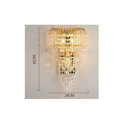 MILUCE Luxury k9 crystal wall lamp led gold living room bedroom bedside dining room wall lamp European lighting by MILUCE (Image #6)