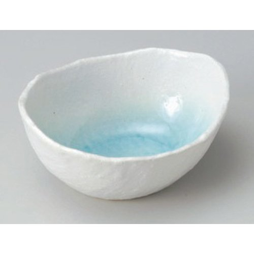 - Bowl utw67-19-504 [6.2 x 5.4 x 2.8 inch] Japanece ceramic White water cocoon-shaped small bowl (large) tableware