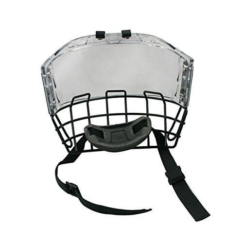 Combo Helmets Hockey Helmet (GY Thicken Polycarbonate with Steel Combo Ice Hockey Mask Helmet Cage Strong impact Resistance Size Free)