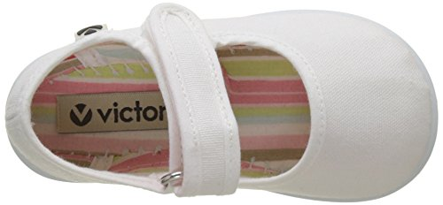 Victoria Mercedes Velcro Lona, Zapatillas Unisex Niños Blanco