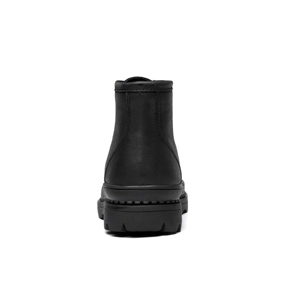 HILOTU-Herrenstiefel,Wasserdichte Stiefel für Männer Schuhe Schnürschuhe Schuhe Männer Arbeitsschuhe (Farbe   Schwarz, Größe   42 EU) 938162