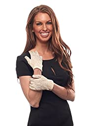 Lily Navona Wrist Length Lace Gloves for Girls (Ivory)