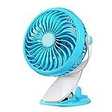 alytimes clip on stroller usb fan, battery operated portable handhold mini desk fan, small personal